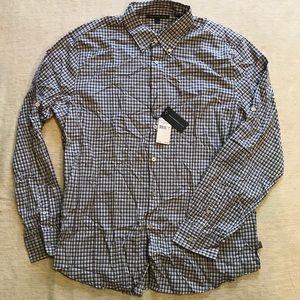 John Varvatos Star USA XL Shirt in Black/Gray. New